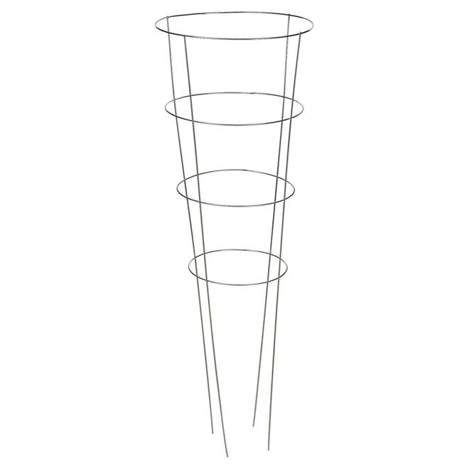 "Round Galvanized Steel Tomato Cage - 54"""