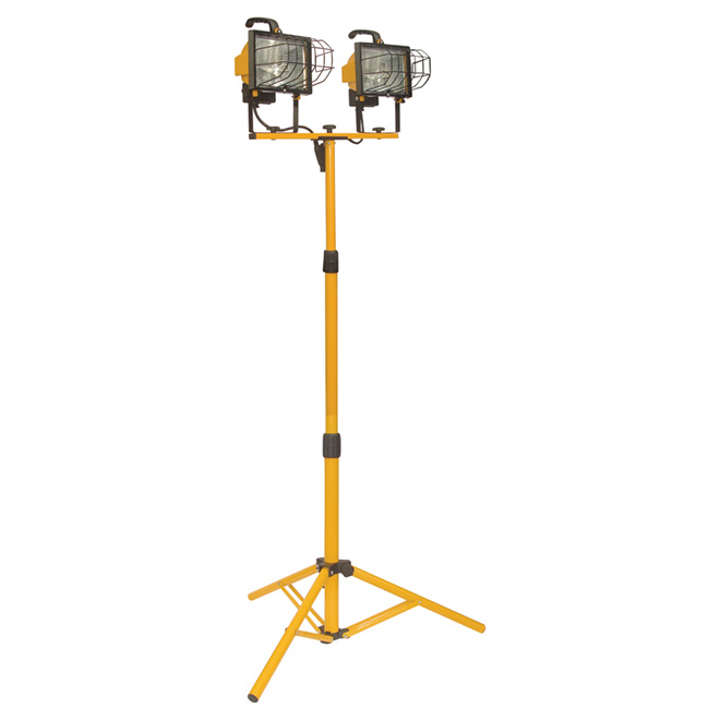 Halogen Tripod Work Lamp - 2 x 500W - 67 3/4""