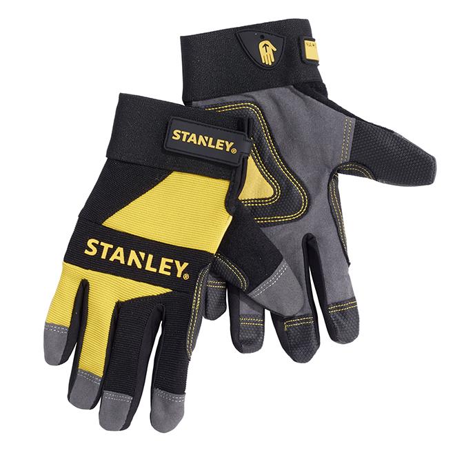 Gants de travail en cuire synthétique, taille TG, jaune et noir