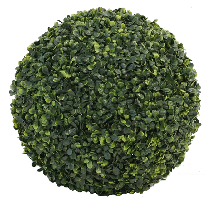 """Artificial Topiary Plant - Ball - 15"""" - PVC - Green"""