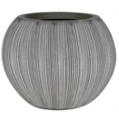 Penelope James Tall Brown Cement Pot - 14.6-in x 19-in