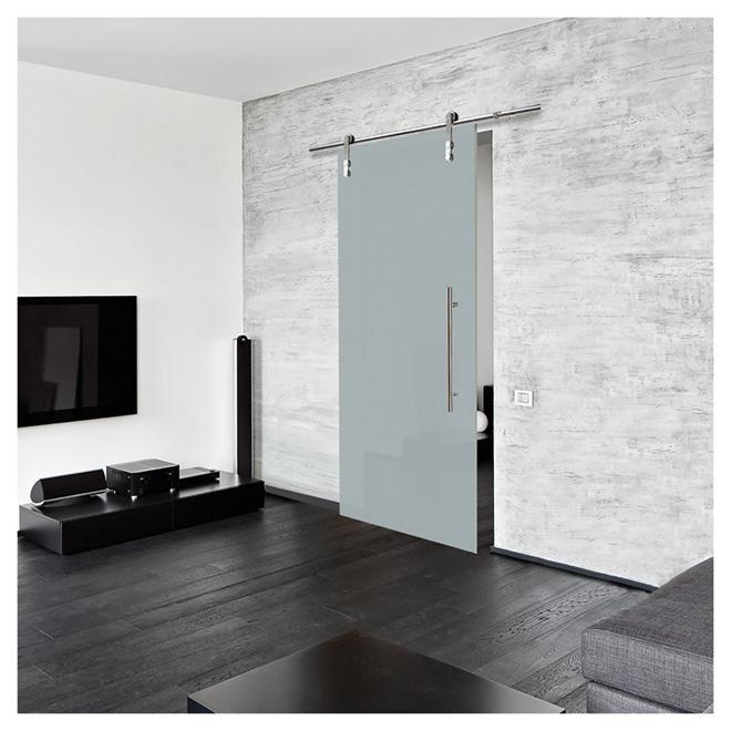 Glass Sliding Door With Rail 33 X 84 Rona