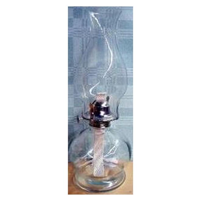 "Oil Lamp - Glass - 14.5"""