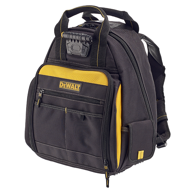 Backpack Tool Bag with Light - 57 Pockets - Black and Yellow