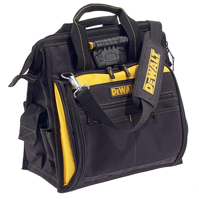 Sac à outils avec lumière intégrée, 41 pochettes, noir et jaune