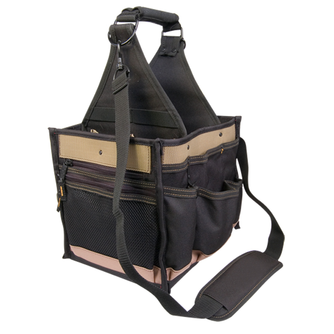 Tool Bag - 23 Pockets - Black and Tan