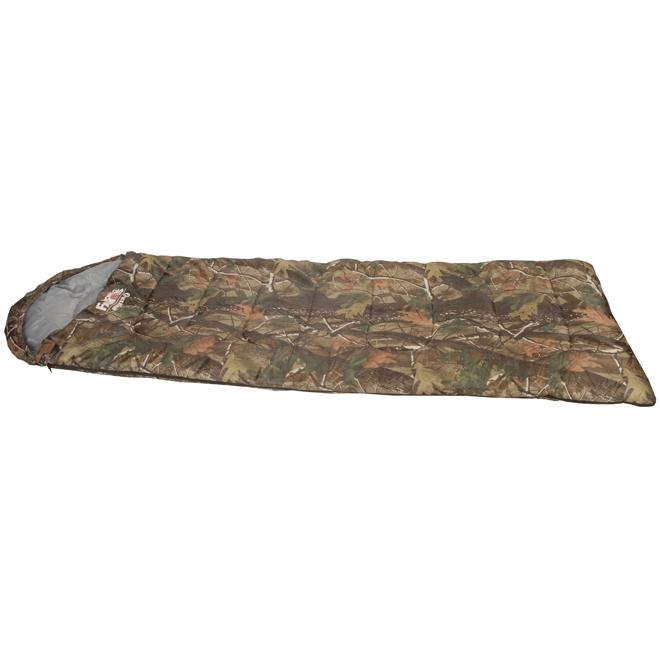 """Sleeping Bag - 12"""" Hood - 29 1/2"""" x 73"""" - 2 lbs - Camo"""