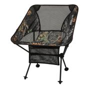 "Folding Chair - 16"" x 22"" x 25 1/2"" - Black/Camo"