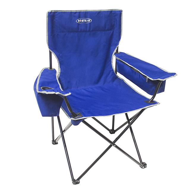 "Chaise pliante, poches isolantes, 21"" x 35"" x 37 1/2"""
