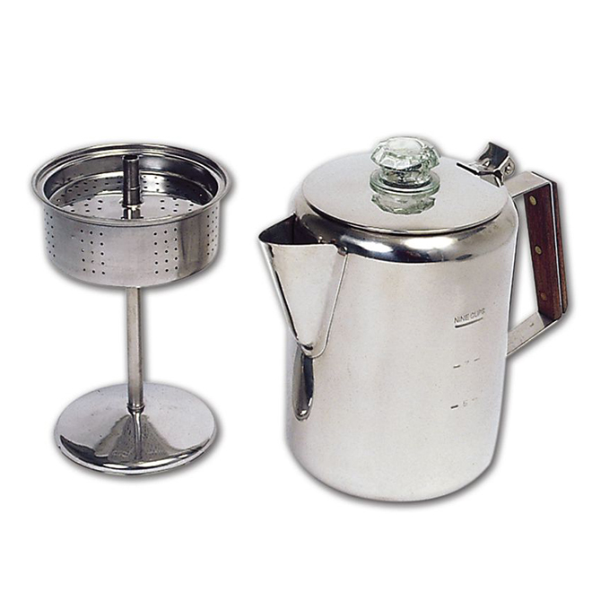 Stainless Steel Coffee Percolator - 9 Cups