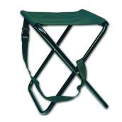 Folding Camping Stool - Stainless Steel Legs - 15 1/2