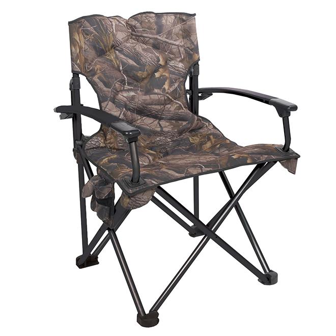 "Chaise de camping pliante, camouflage, 25"" x 23"" x 37"""