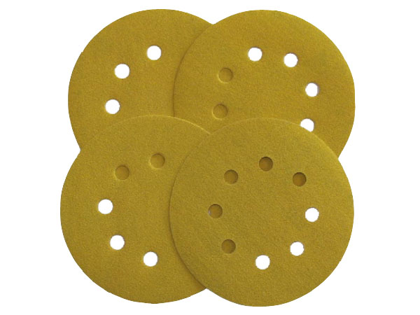 Self-Stick Sanding Discs - 60 Grit - 8 Holes - 5'' - 4/PK