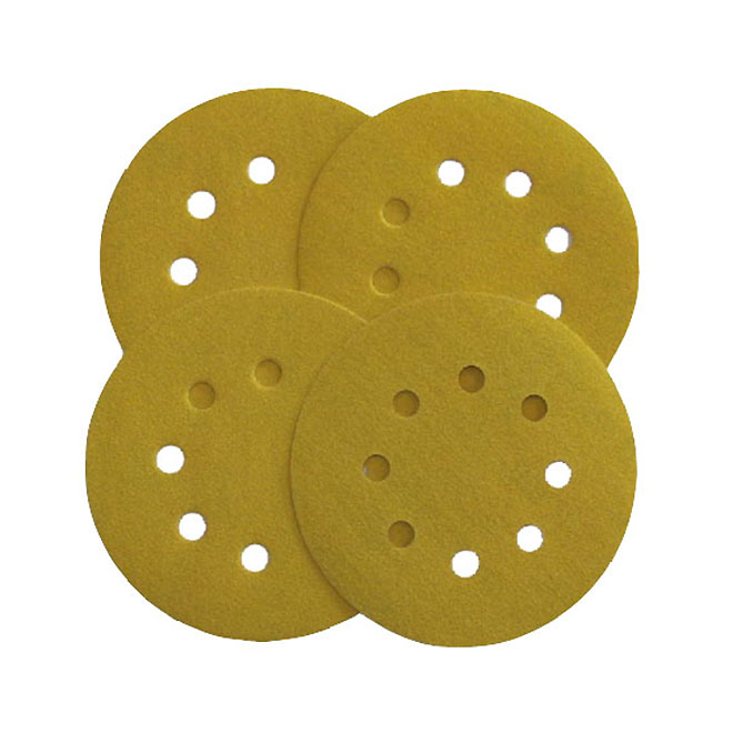 """Sanding Disc - 5"""" - Adhesive - 80 Grit - 8 Holes - 4/Pack"""