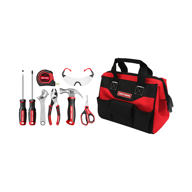 Child Tool Set with Bag - 8 Pieces