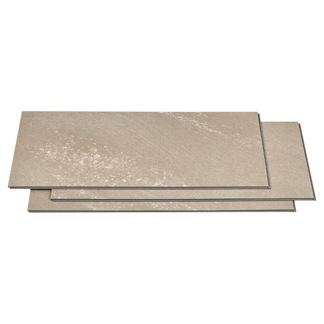 """Vinyl Floor Tile - 12"""" x 24"""" - Beige - 10 Box"""