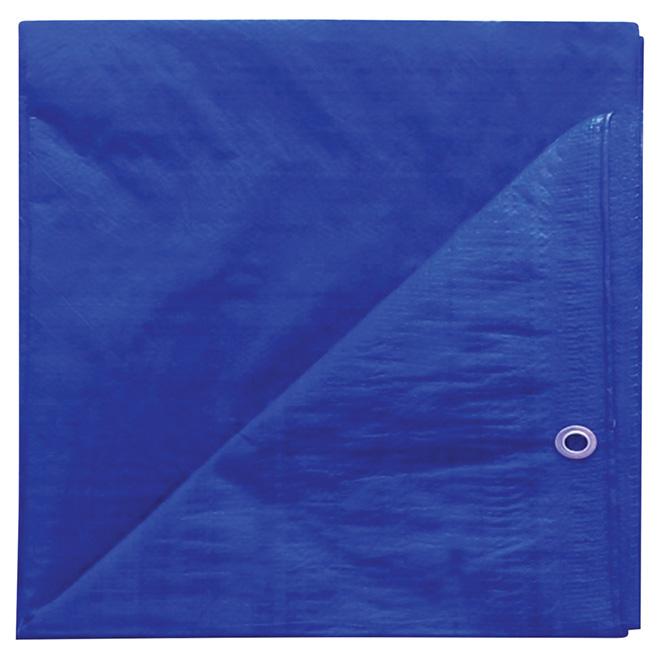 Project Source -  Tarpaulin - Polyethylene - 8 ft x 10 ft - Blue
