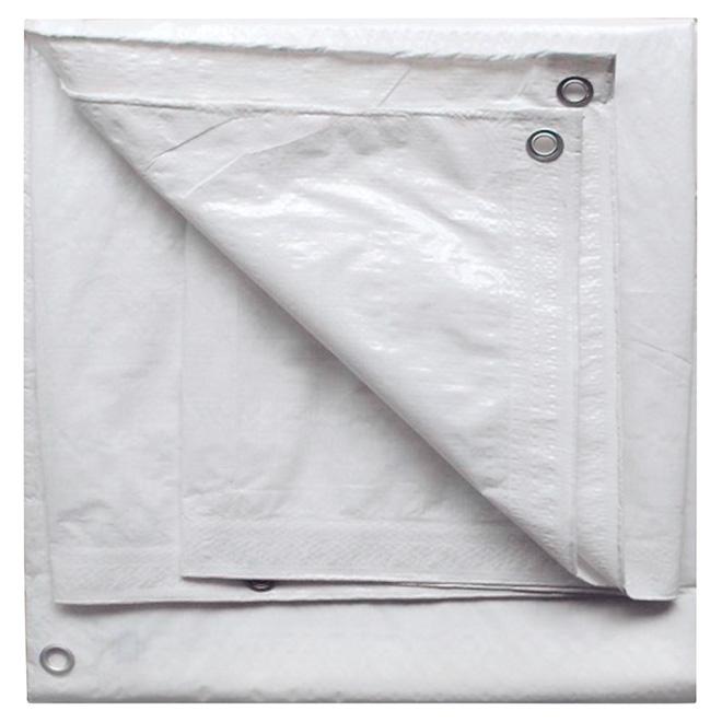 Polyethylene Tarpaulin, White -  30 ft x 50 ft