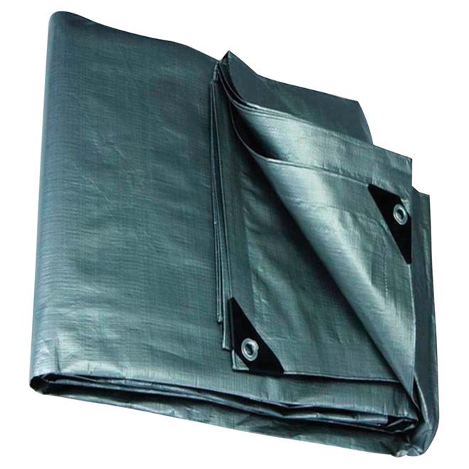 Polyethylene Tarpaulin, grey - 20 ft x 30 ft