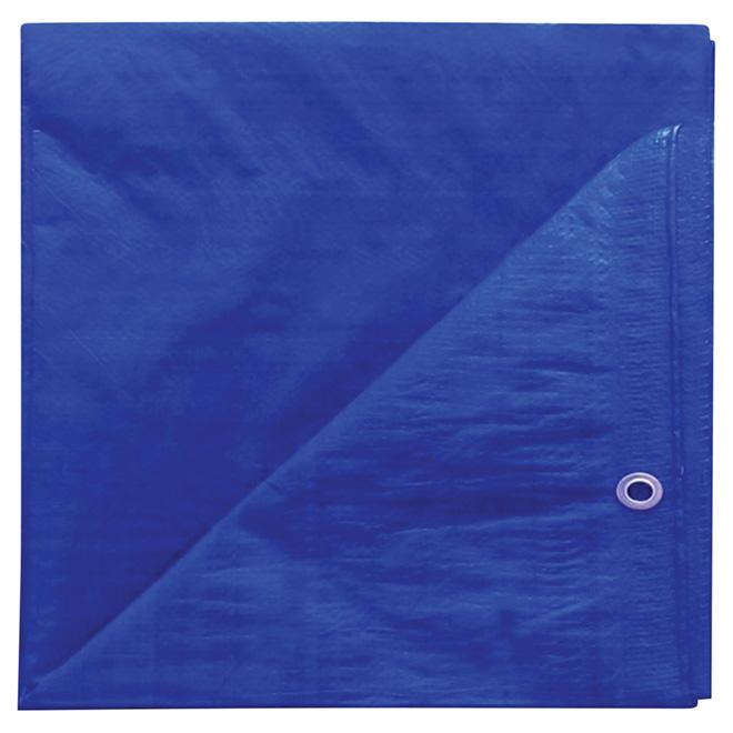 Polyethylene Tarpaulin, blue - 10 ft x 12 ft