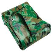 Polyethylene Tarpaulin, camouflage - 10 ft x 15 ft