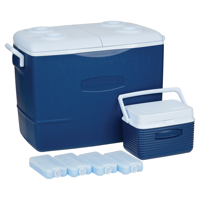 Set of 2 Coolers with 4 Ice Blocks