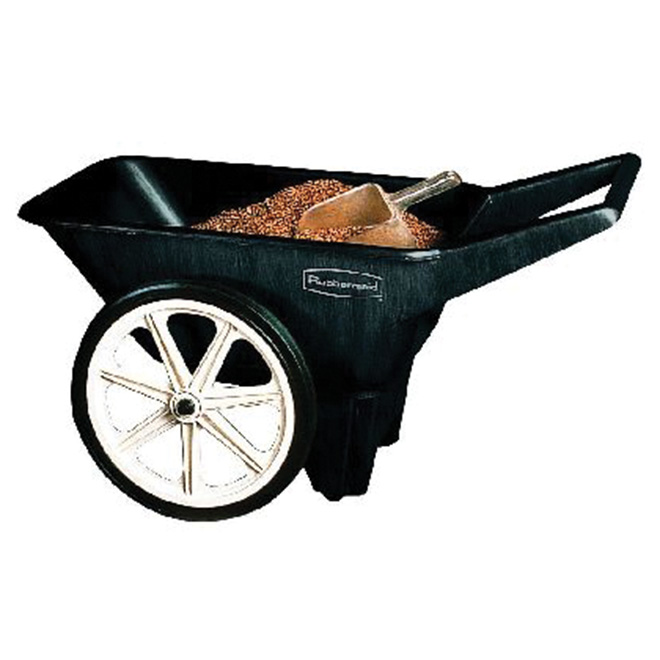 Yard Cart - Big Wheel - 3.5 cu. ft. Capacity - Black