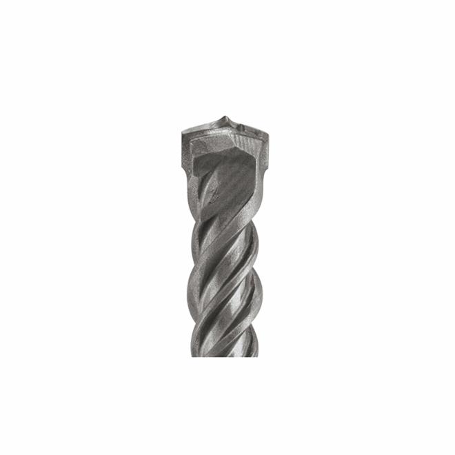 Foret pour marteau perforateur SDS-plus Bulldog Bosch, 1 po dia x 18 po L., 4 cannelures, pointe en carbure centrée
