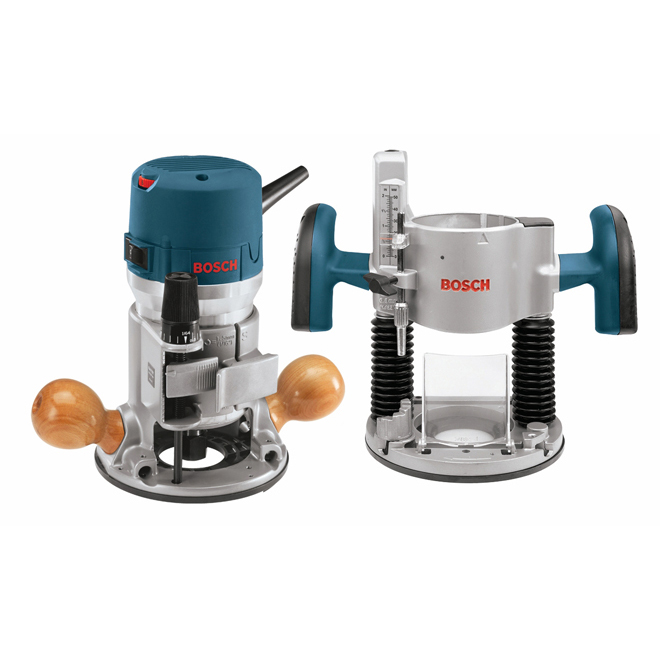 Combination Plunge and Fixed-Base Router - 2.25 HP