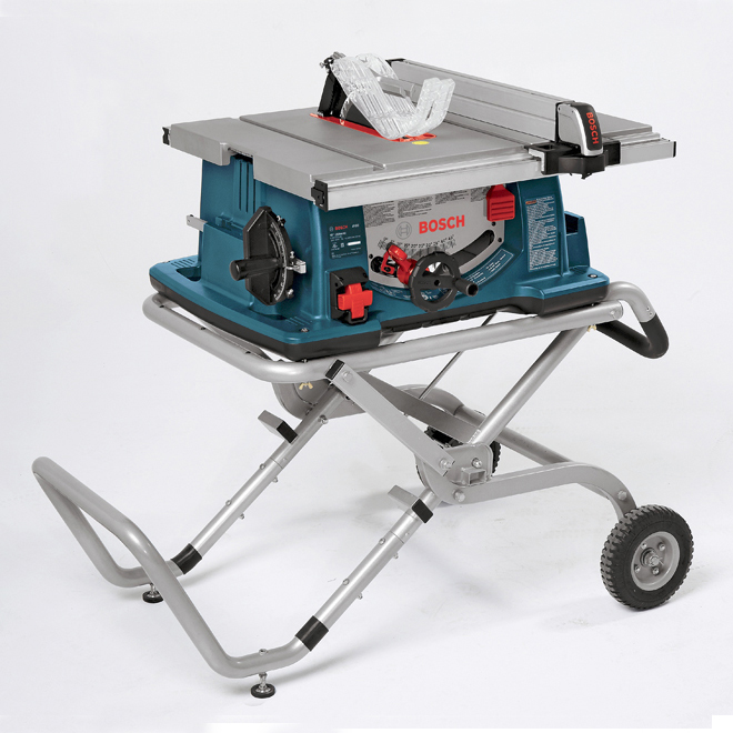 Bosch Table Saw With Gravity Risetm Wheeled Stand 10 4100 09