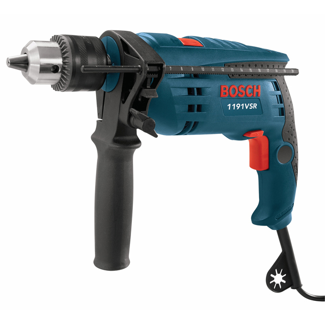 Variable Speed Hammer Drill - 7 A - 1/2''