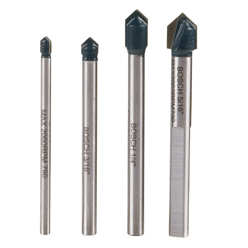 Bosch-4-Piece Glass Tile Drill Bit Set