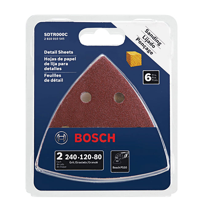 Rotary Tool Abrasive Sanding Triangles - 6-Pack