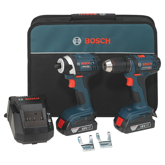 Compact 1/2'' Drill/Driver and 1/4'' Hex Impact Driver - 18V