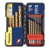 Titanium-Coated Drill Bit Set - 21-Pieces