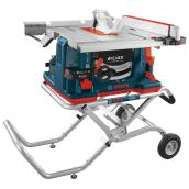 Portable Jobsite REAXX Table Saw with Rolling Stand - 10'' - 15A