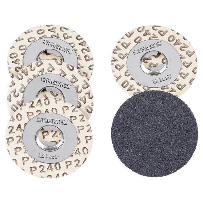 EZ Lock(TM) Sanding Discs - 240 Grit - 5-Pack