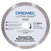 Meule diamantée pour tuiles Dremel « Ultra-Saw(MC) », 3,5''