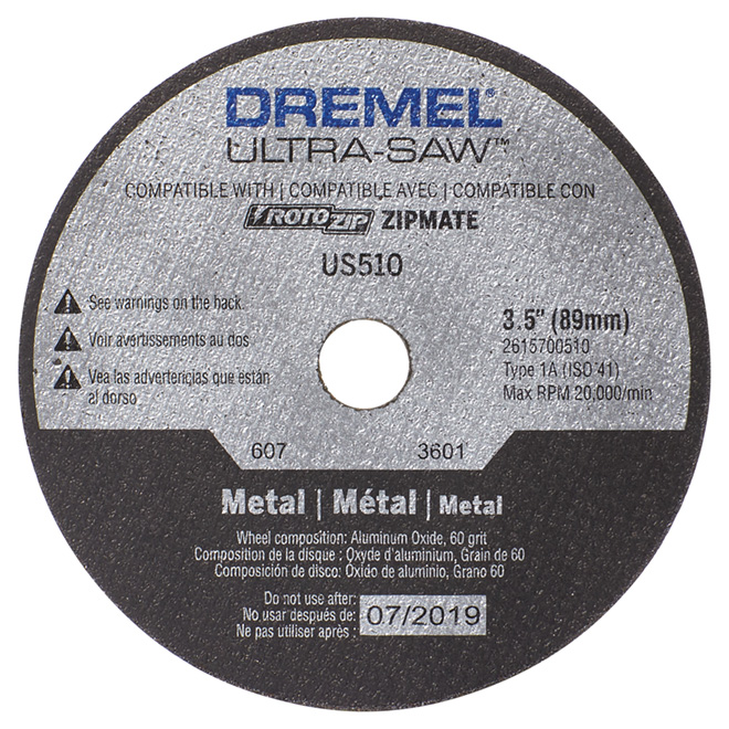 "Aluminum Oxide Metal Cutting Wheel - Ultra-Saw - 3 1/2"""