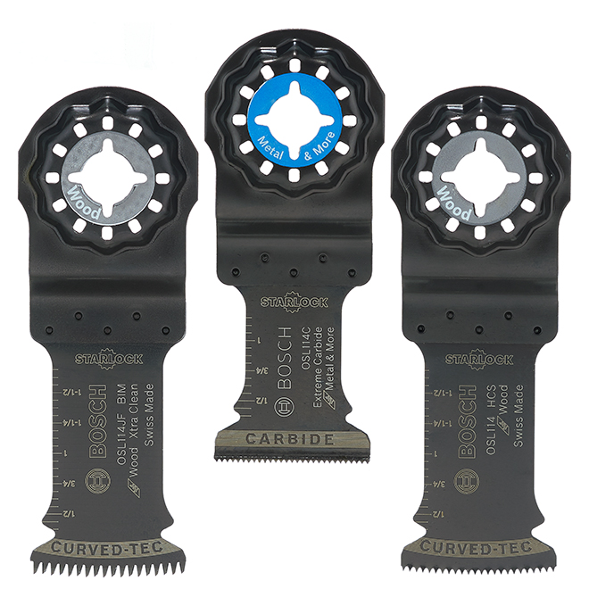Bosch Starlock Oscillating Multi-Tool Accessory Blades - Black - Set of 3 - 1 1/4-in W