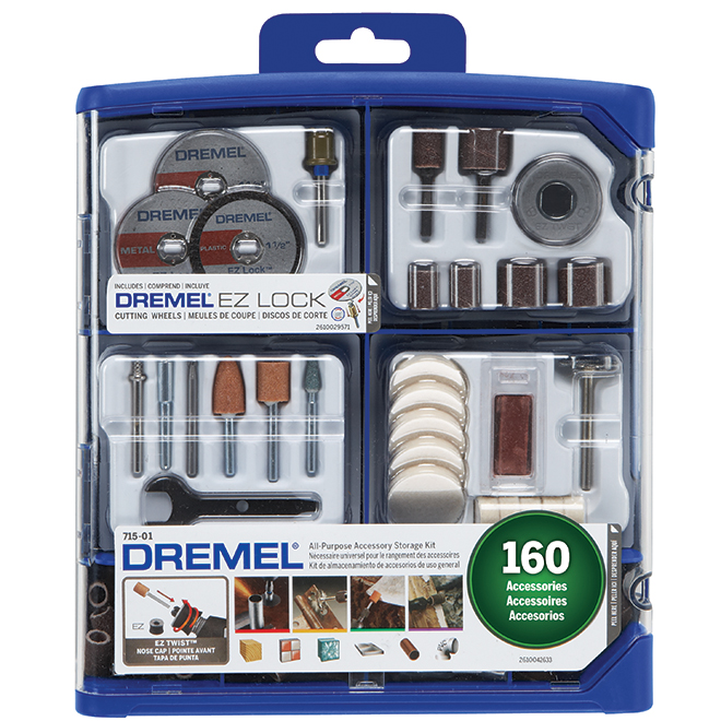 Dremel All-Purpose Accessory Storage Kit - 160 Pieces