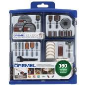 Ensemble d'accessoires tout-usage Dremel, 160 pièces
