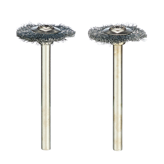 """Carbon Steel Brushes - 3/4"""" - 2 Pack"""