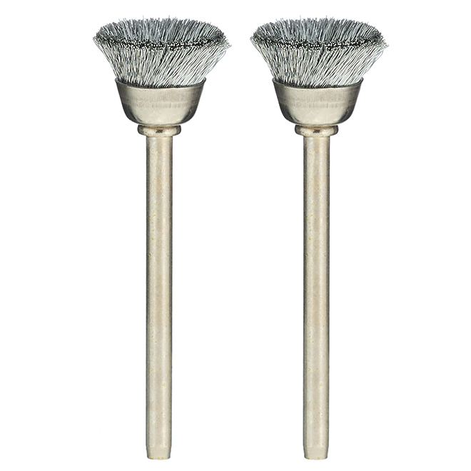 """Carbon Steel Brushes - 1/2"""" - 2 Pack"""