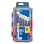 Black Oxide Metal Drill Bit Set - 21 Pieces