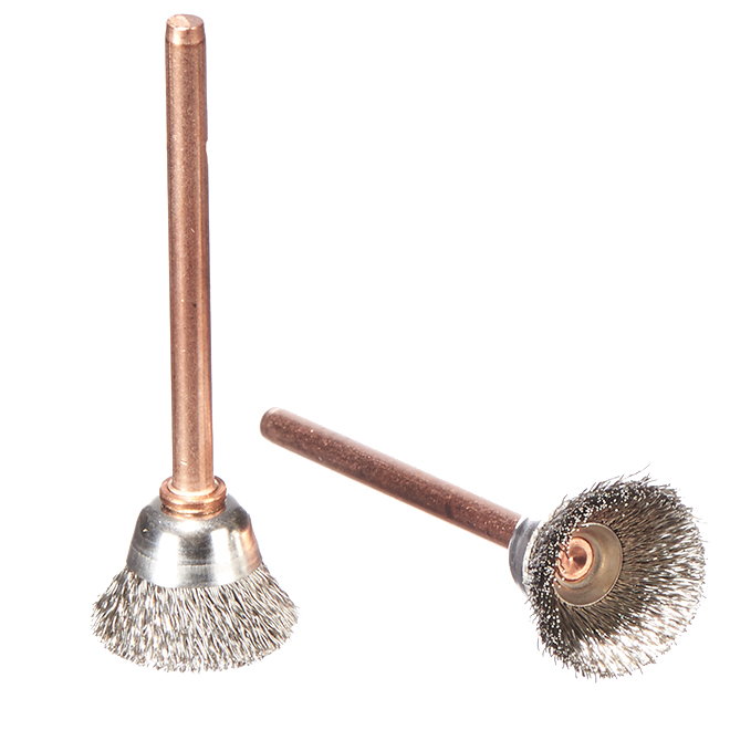 "Stainless Steel Brushes - 1/2"" - 2 Pack"