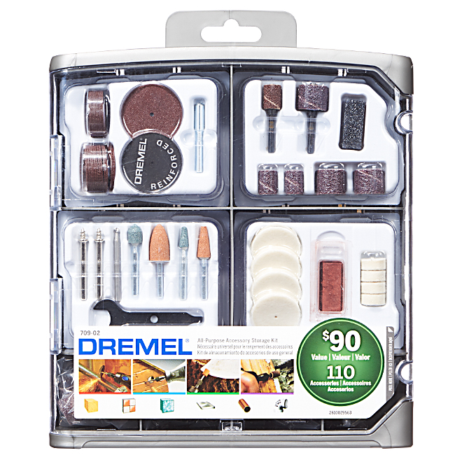 All Purpose Accessory Kit for Rotary Tool - 100-Piece