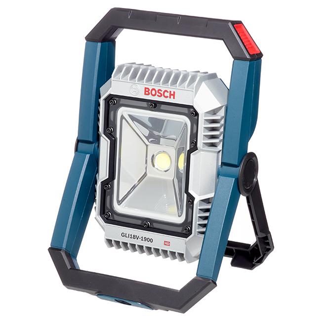LED Floodlight - 18 V - Aluminum - Blue