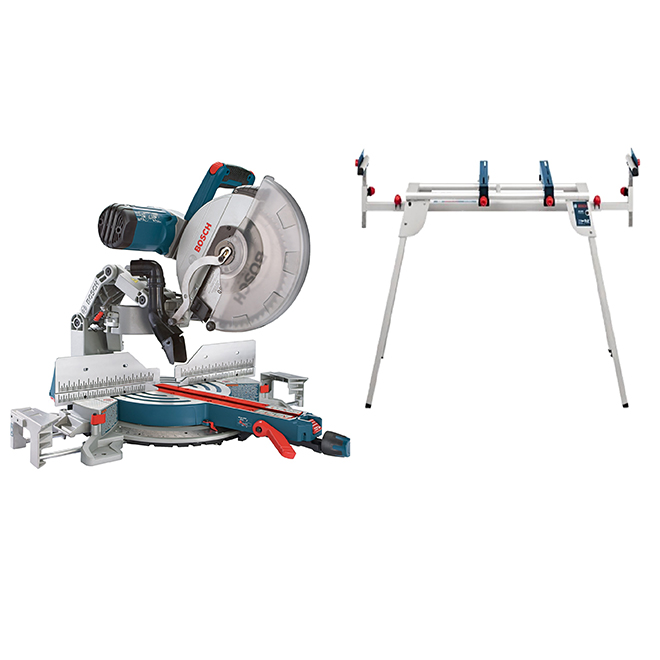 "12"" Glide Miter Saw with Stand - Composite - 15 A"