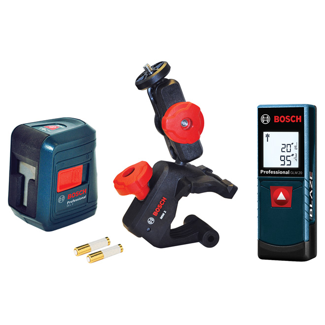 GLL2 Cross-Line Laser and GLM 20 Laser Set - 2 Pieces
